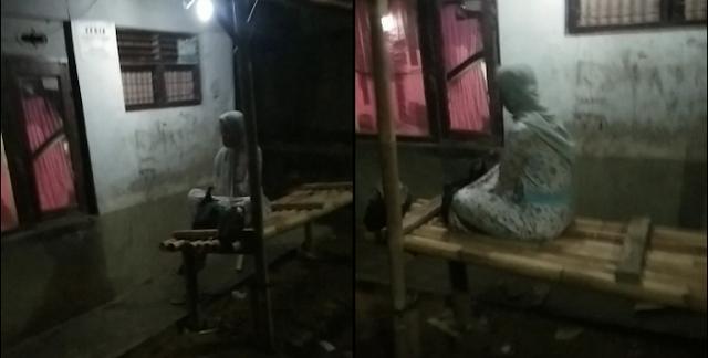 Sosok Wanita Cianjur Duduk di Bale Bambu yang Viral Tiba-tiba Menampakkan Diri Lagi, Ini Videonya