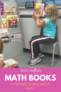 Reading books at math centers Teach Magically