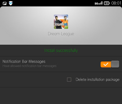 Cara install game android dream league soccer