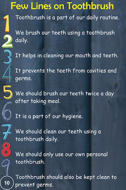 Short 10 lines essay on toothbrush