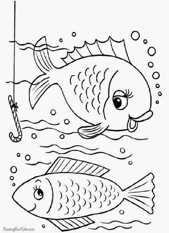 Slippery Fish Book Coloring Pages