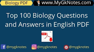 Top 100 Biology Questions and Answers in English PDF