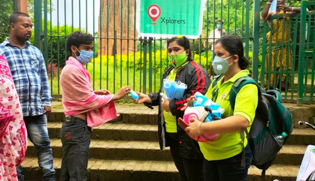 Xplorers Motorcycle Club  Conduct COVID Awareness Program & Distribute Masks & Sanitizers