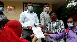एसडीएम राहुल चौहान को सौंपा ज्ञापन