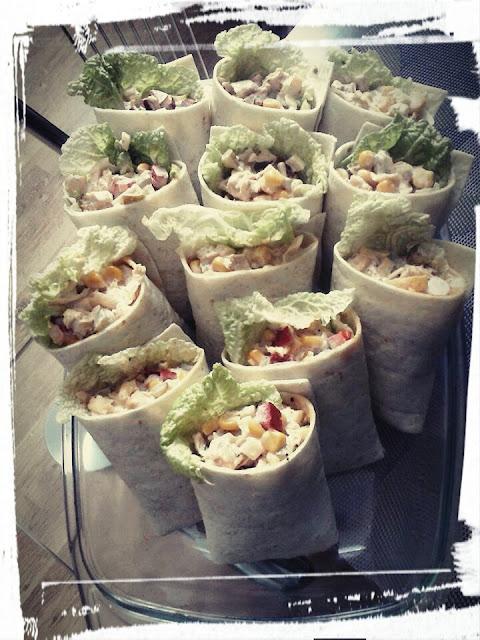 tortille z salatka gyros przekaska sylwestrowa kapusta pekinska kukurydz kurczak