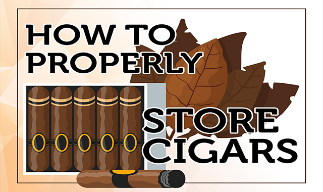 How to Properly Store Cigars #infographic