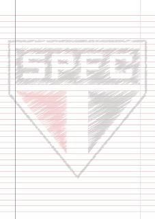Papel Pautado do Sao Paulo rabiscado PDF para imprimir na folha A4