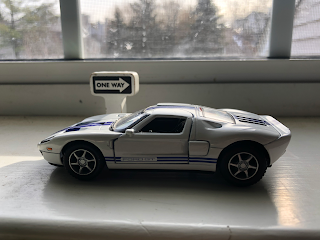 Toy Ford GT Going The Wrong Way