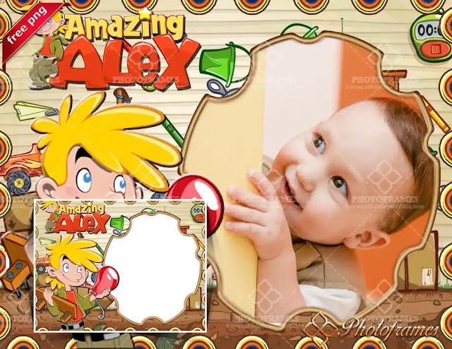 marco para fotos de cumpleaños de amazing alex
