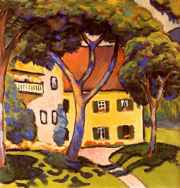 August Macke Tegernsee'de Staudacher'in Evi