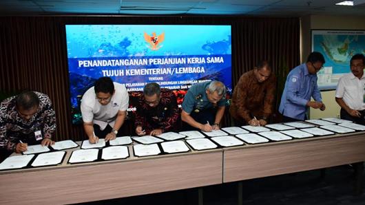 Tujuh Kementerian dan Lembaga Lekukan Penandatanganan PKS