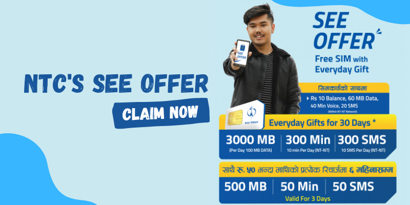 NTC's offer for SEE students | Free Data, SMS, Voice Packs & More