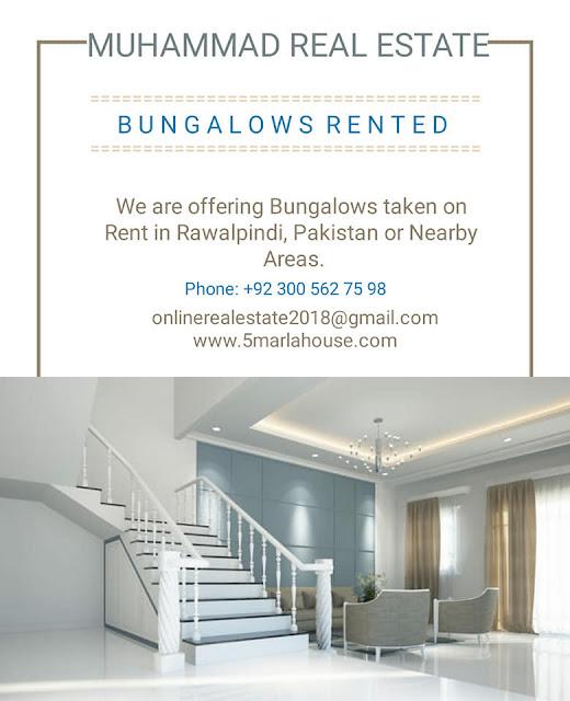 Bungalows for Taken on Rent in Takal, Rawalpindi, Pakistan, Muhammad Real Estate - Call +923005627598