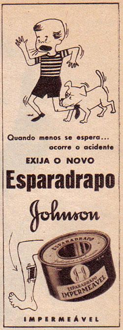 Propaganda do esparadrapo da Johnson & Johnson nos anos 50