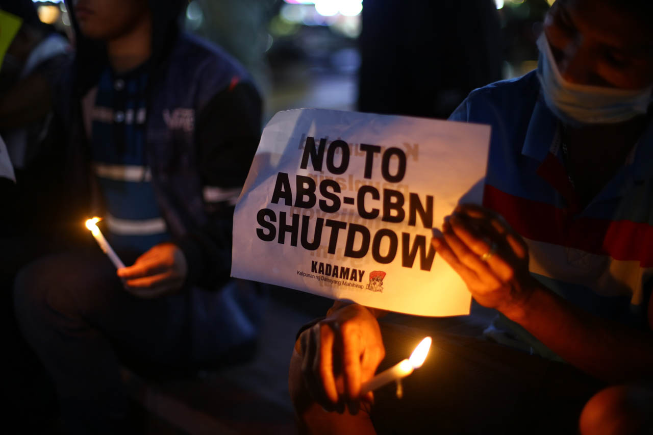 no to abs cbn shutdown vigil