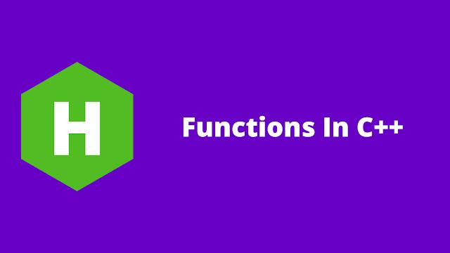 HackerRank Functions in C++ problem solution