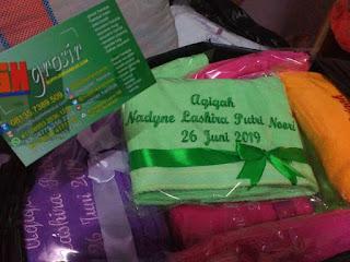 handuk anjoly souvenir aqiqah packing plastik