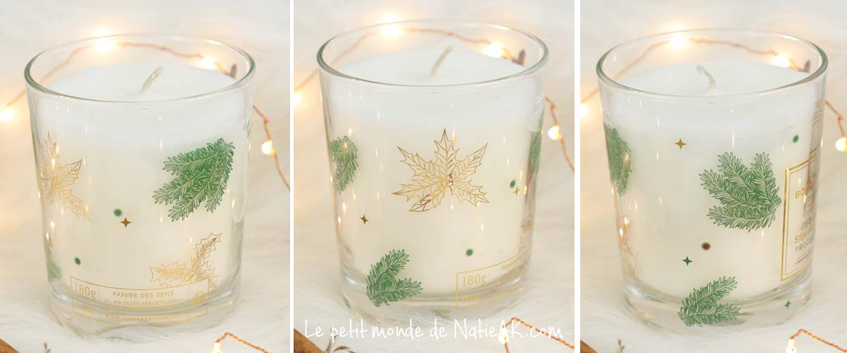 Bougies parfumées de Noël  Panier des sens