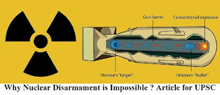 Why Nuclear Disarmament is Impossible