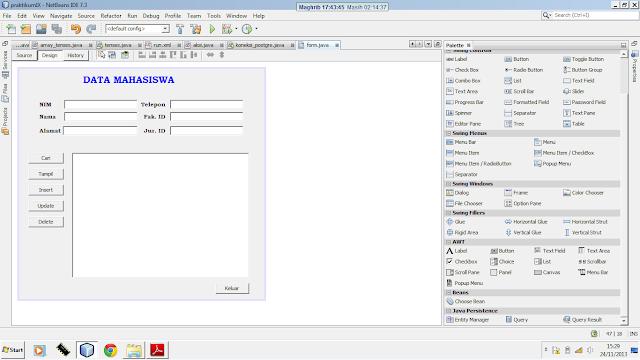 Kelas Informatika - GUI Builder Netbeans Aplikasi Data Mahasiswa