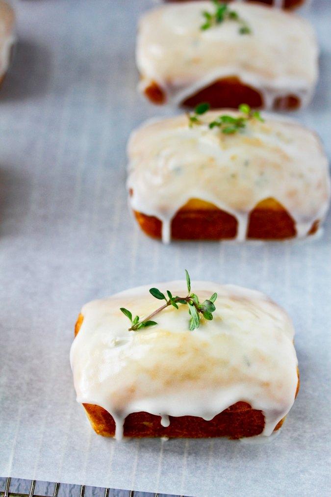 Glazed lemon loaves