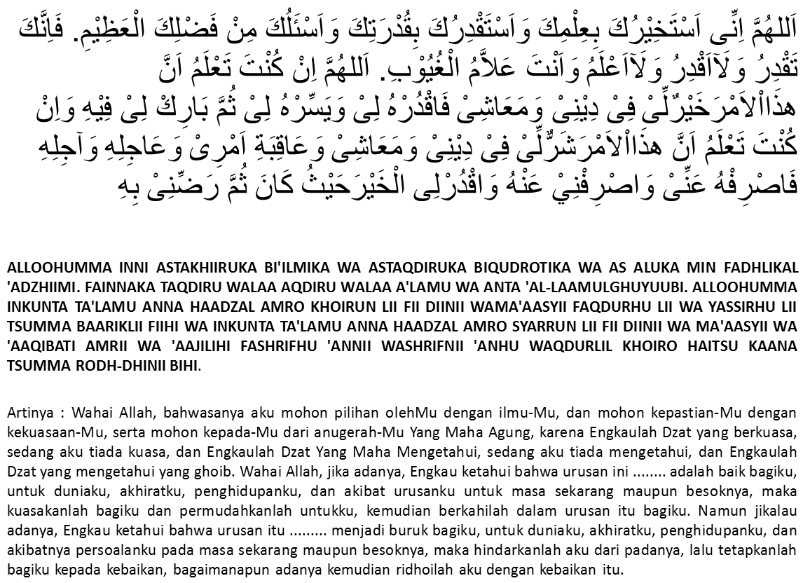 Bacaan Doa Setelah Sholat Istikharah Langsung Dapat ...