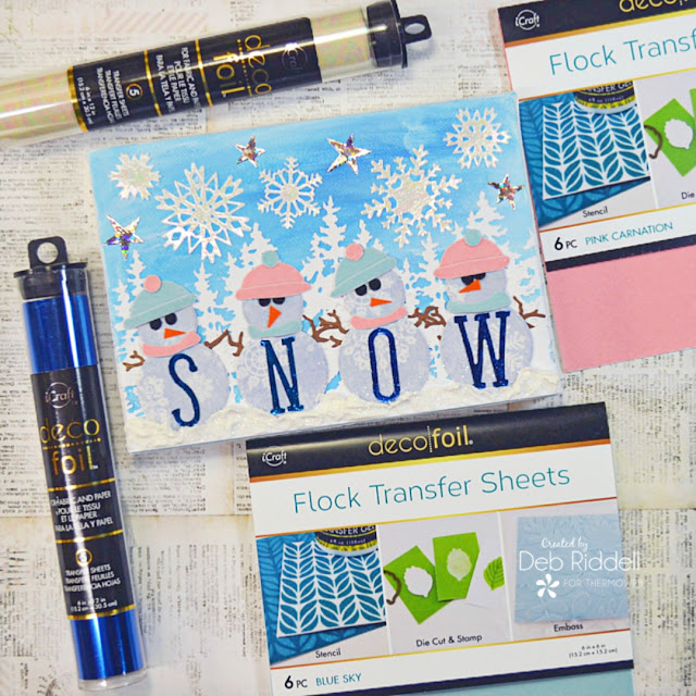Snowy Snowmen Mixed Media Canvas For Therm O Web
