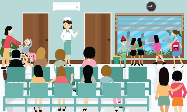 puskesmas pusat pelayanan kesehatan, pemberi pelayanan kesehatan tingkat pertama, PPK 1, faskes primer, fasilitas kesehatan primer, dokter, perawat, suster, antrian pasien, antrian obat, rujukan, bpjs, ruang tunggu, ruang konsultasi, ruang berobat, klinik pratama