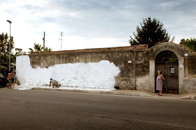 Street Art Mural By MP5 In Terracina - Progress 1