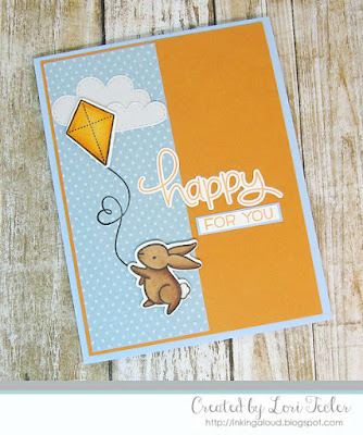 Happy for You card-designed by Lori Tecler/Inking Aloud-stamps and dies from Lawn Fawn