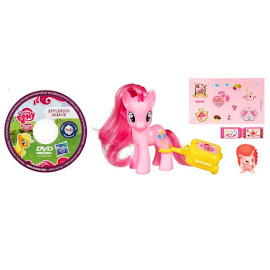 My Little Pony Traveling Single with DVD Pinkie Pie Brushable Pony