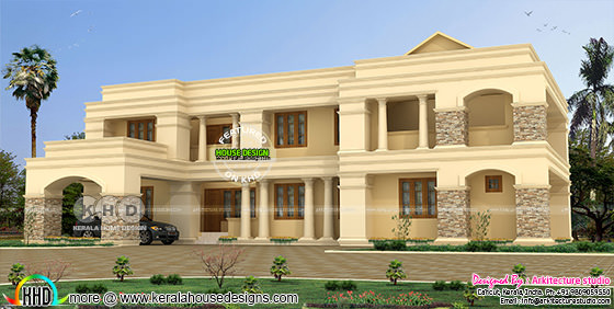 Colonial style house rendering