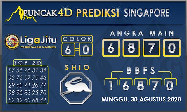 PREDIKSI TOGEL SINGAPORE PUNCAK4D 30 AGUSTUS 2020
