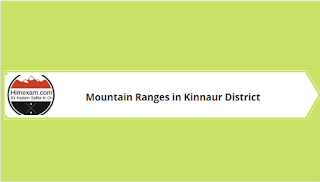 Mountain Ranges in Kinnaur District