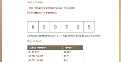 timebucks roll tab win