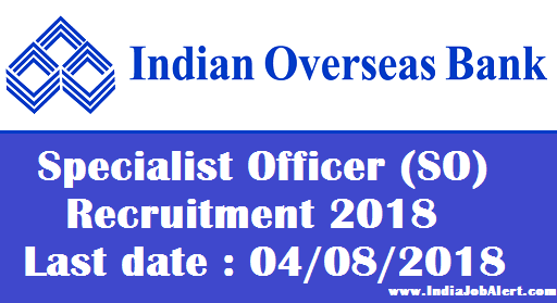 Indian Overseas Bank Specialist Officer (SO) Recruitment 2018 || Get Details