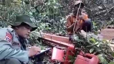 Ketika Penebang Kayu Hutan Lindung Bukik Gombak Sebut Nama Riski