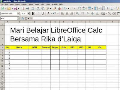 tampilan LibreOffice Calc