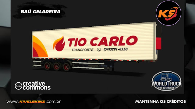 BAÚ GELADEIRA - TIO CARLO TRANSPORTES