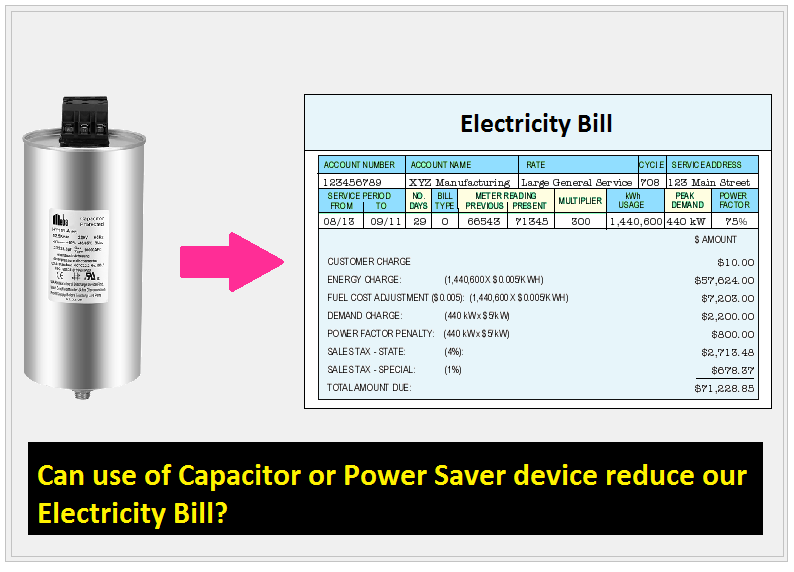 Can use of Capacitor or Power Saver device reduce our