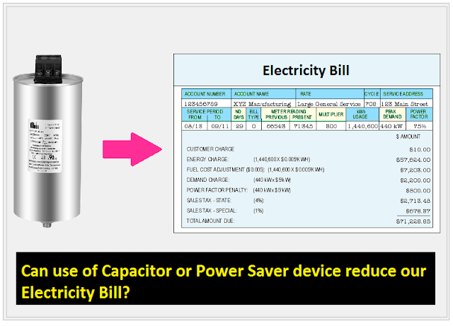capacitor used to reduce electricity bill