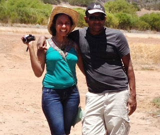 Chamari Liyanage is accused of killing her husband Dinendra Athukorala (pictured together) with a mallet while he slept
