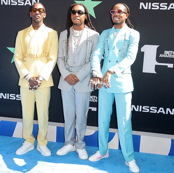 BET Awards' carpet coloured blue in honour of Nipsey Hussle