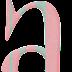 Alfabeto Hipity Hoop en Rosa y Gris. Hipity Hoop Alphabet in Grey and Pink.