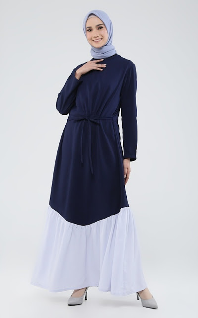 Long two tone dress for casual