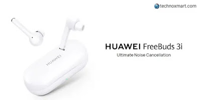 Huawei Freebuds 3i Noise Cancelling Earphones Is Launched In India With A Price Tag Of Rs.9,990, Said To Be On Sale On Amazon Prime Day