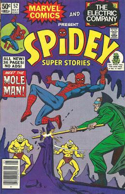 Spidey Super Stories #52, the Mole Man