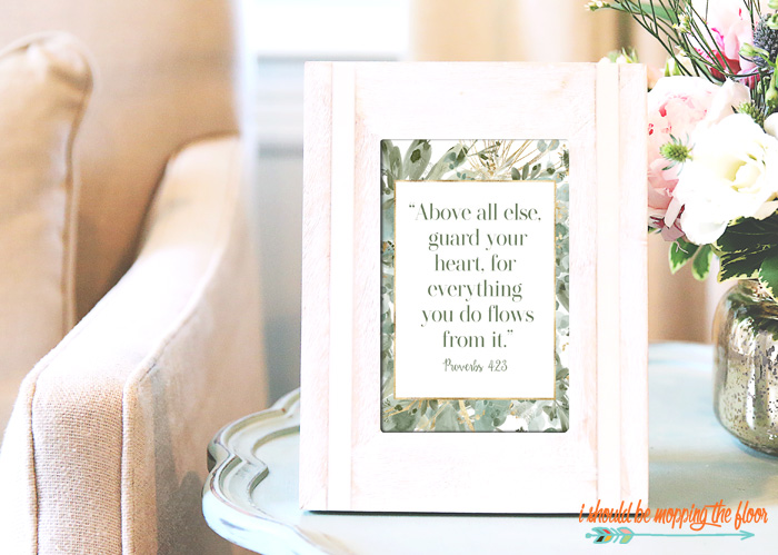 Proverbs 4:23 Printable