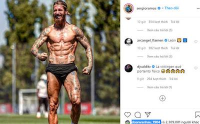 Trước thời khắc trọng đại, Ramos khoe body đẹp hơn CR7
