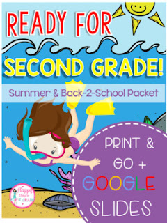 Summer and Back-2-School Packet: Second Grade